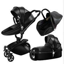 2020High-view Luxury Baby Stroller 3 In 1 Fashion Carriage European Pra