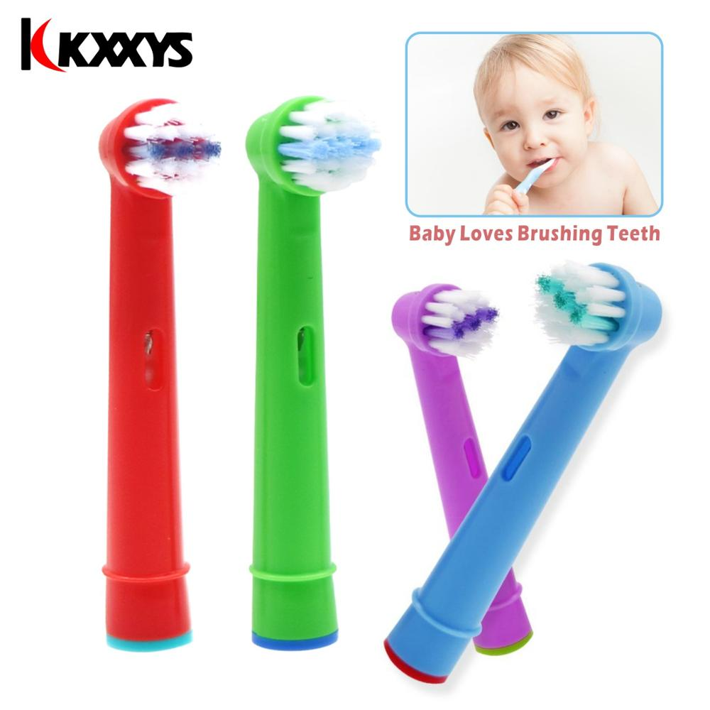 8pcs Children Brush Heads Toothbrush For Oral B EB-10A SmartSeries/Advance Power/Pro Health/Triumph 5000 inkl 6000 image
