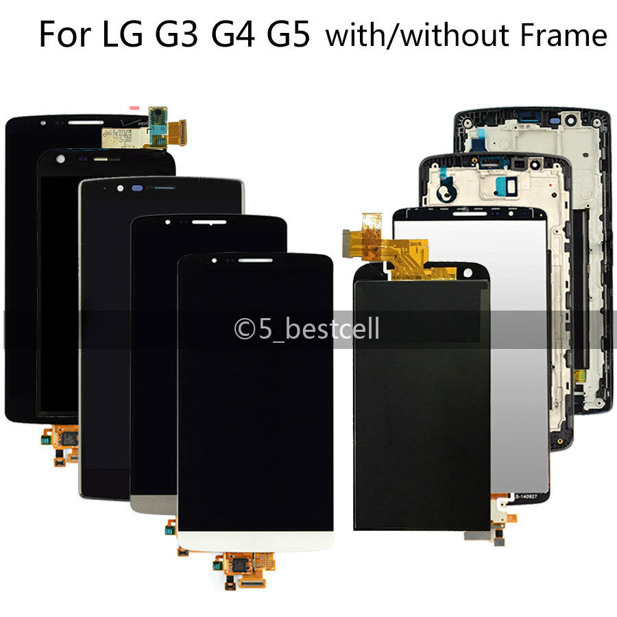 <font><b>LG</b></font> <font><b>G3</b></font> G4 G5 Touch Digitizer LCD Display <font><b>Screen</b></font> Assembly Frame Replacement D850 D851 D855 Black White Gold image