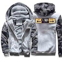 Vintage Cat Back To The Future Coat Thick 2019 Winter New Hip Hop Sweatshirts Raglan Men Camouflage Streetwear Warm Clothing