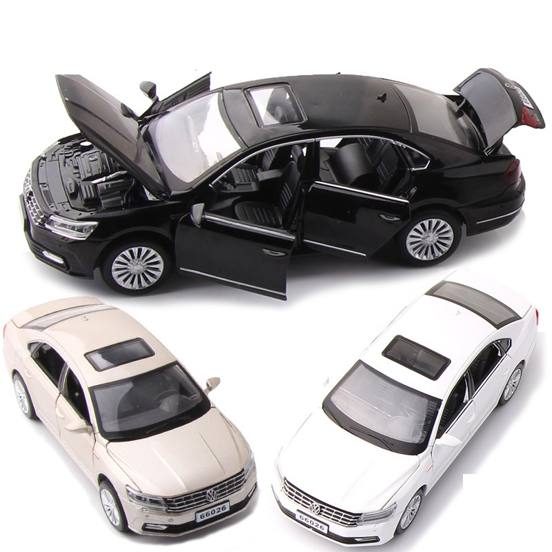 1:32 Alloy Pull Back Car,high Simulation Passat,deicast Metal Model,6 Open The Door Toy Vehicles,musical&flashing,free Shipping