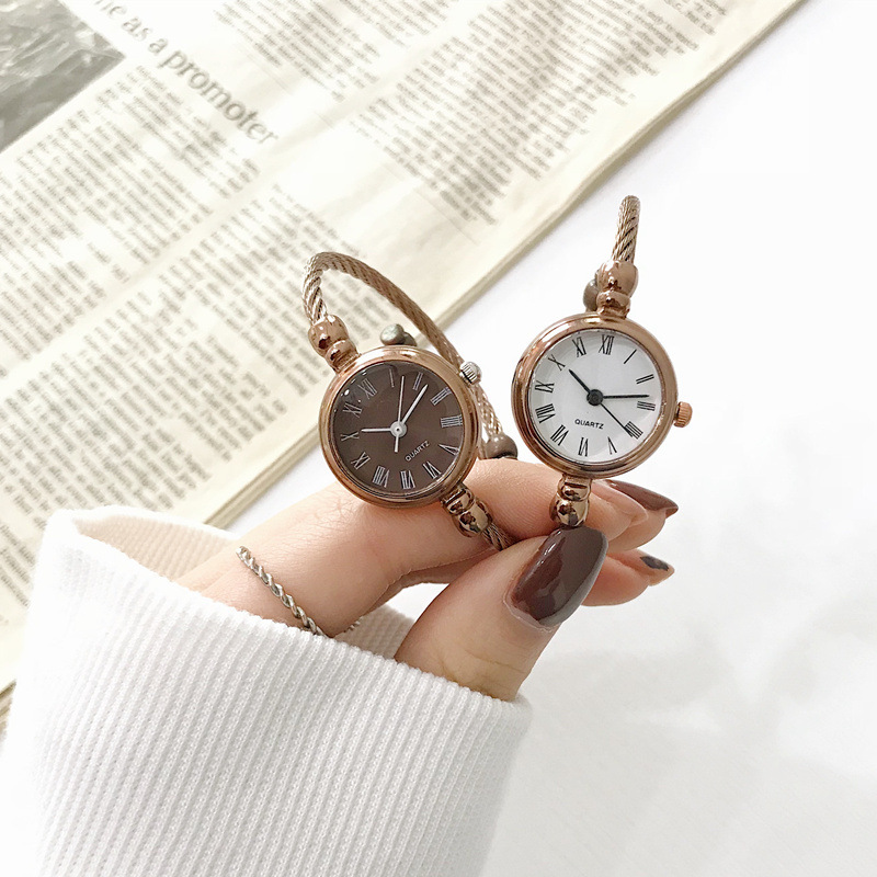 Roma Number Retro Women Bracelet Watches 2019 Ulzzang Brand Luxury Fashion Small Ladies Watch Simple Female Quartz Wristwatches(China)