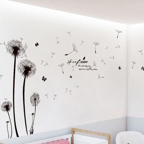 Dandelion Flower Wall Sticker DIY Removable Art Vinyl Decal Home Room Decor New