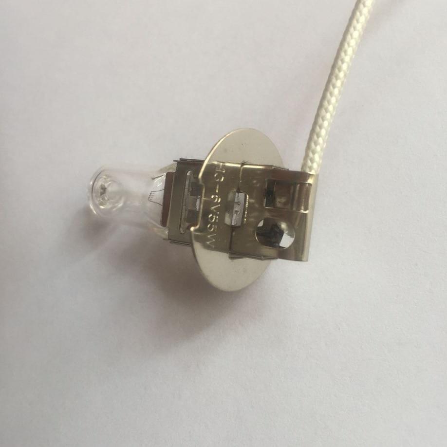 2 pcs, H3 6V55W lampada della torcia elettrica, H3 6V 55W lampadina, per Roor Vec198 della torcia di illuminazione, Trasporto libero