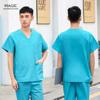 Health Workers Work Wear Unisex Scrubs Nursing Uniform Women Set Uniforms Clothes Purple Red Scrub Tops Pants Costume Female