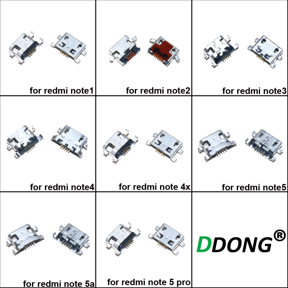 10pcs For Xiaomi Redmi Note3 3 Note 4 Note4 Note5 Note 4X Note 5 Pro Note 5a USB Connector Socket Charging Port