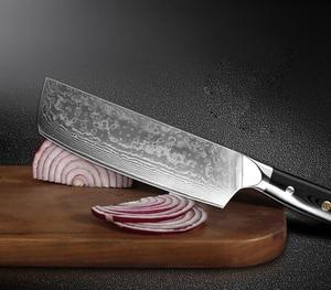 Image 5 - XITUO سكينة مطبخ للطهاة مجموعة VG10 دمشق الصلب 67 طبقة شرائح ناكيري Kiritsuke السوشي سكين العظام سكين ياباني أدوات الطبخ