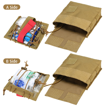 Quick Access First Aid Kit Tactical Molle Waist Pouch Outdoor Survival Tool Set Essential Aid Supplies Included 2