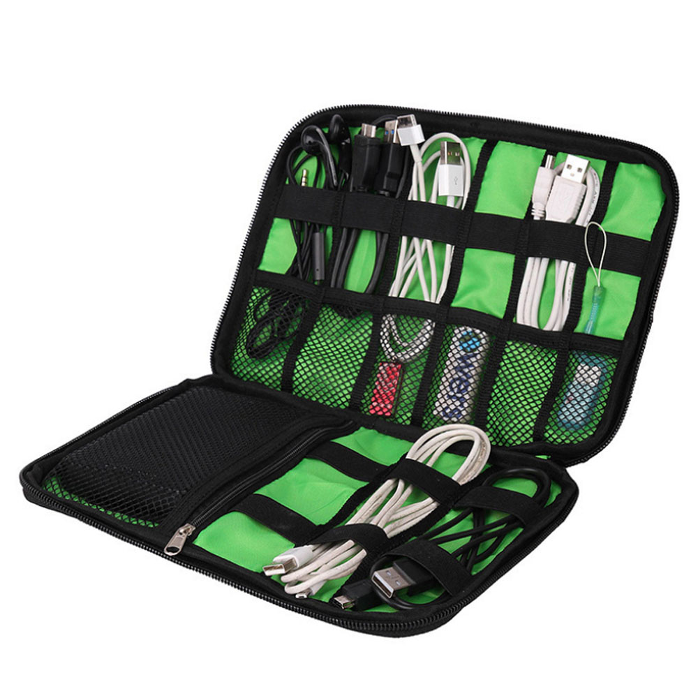 Electronic Accessories Travel Bag Nylon Travel Organizer For Date Line SD Card USB Cable Digital Device Storage Bag