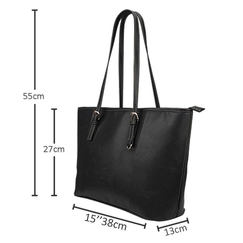 NOISYDESIGNS Cute Animal Pug Printed Tote Bag Women StylishPU Leather Handbag for Ladies Large Capacity Shoulder Bags Female