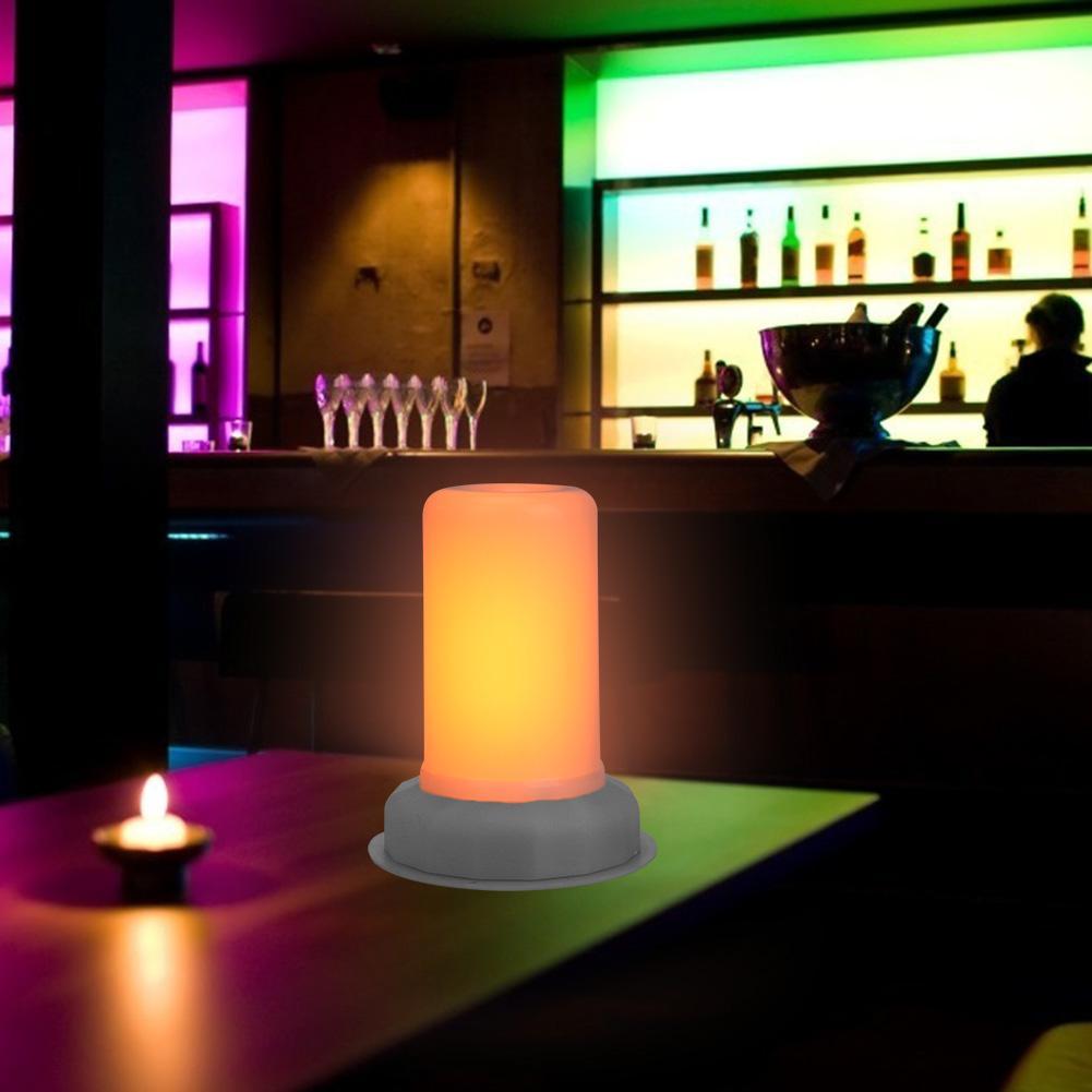 LED Flame Bulb 80LM 1800K 5V Charging Fire Effect Flickering Emulation Light Good Visual Creating Atmospheric Effect