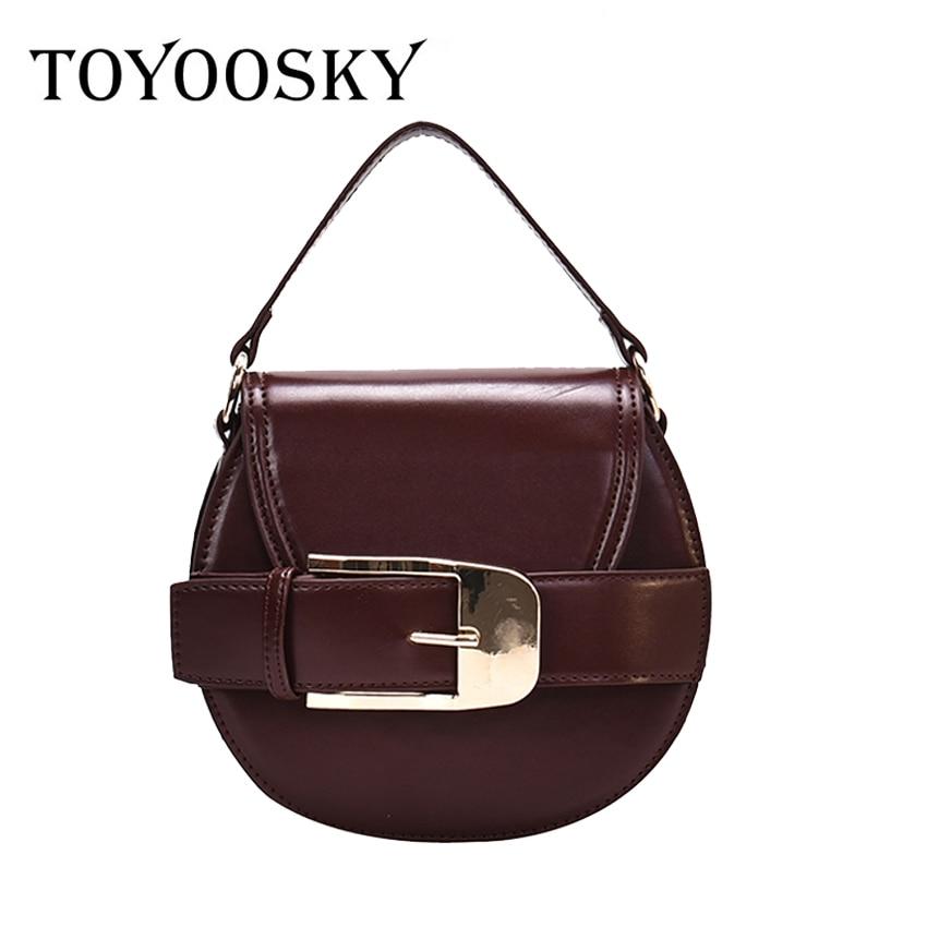 TOYOOSKY Small Saddle Crossbody Bags For Women Mini Bag Clutch Purses Fashion Shoulder Tote Purse Bolsa Mujer 2020 Bucket Bag