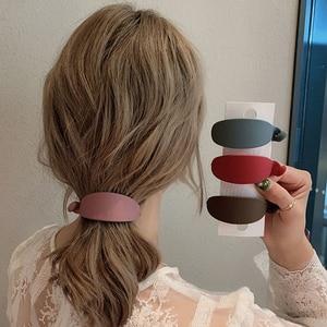 New Cute Candy Colors Banana Shape Hair Claws Women Girls Sweet Hair Clips Ponytail Holder Hairpins Fashion Hair Accessories