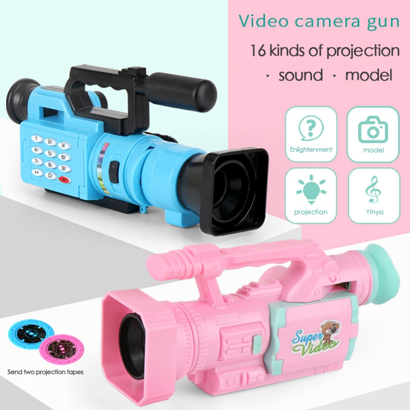 Educational Children Projection Simulation Camera Fun Interactive Toy Light Music Toy Cosplay Game 1PC