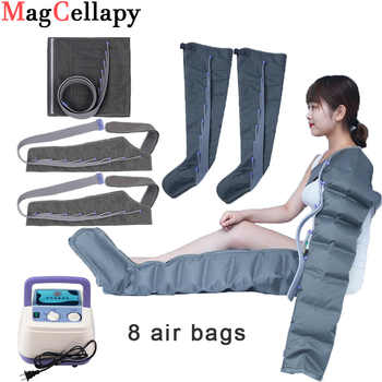 8 Air bags Electric Air Compression Massager Tall Man Waist Leg Pump Wraps Foot Ankles Calf Massage Presoterapia Pain Relaxation - Category 🛒 All Category