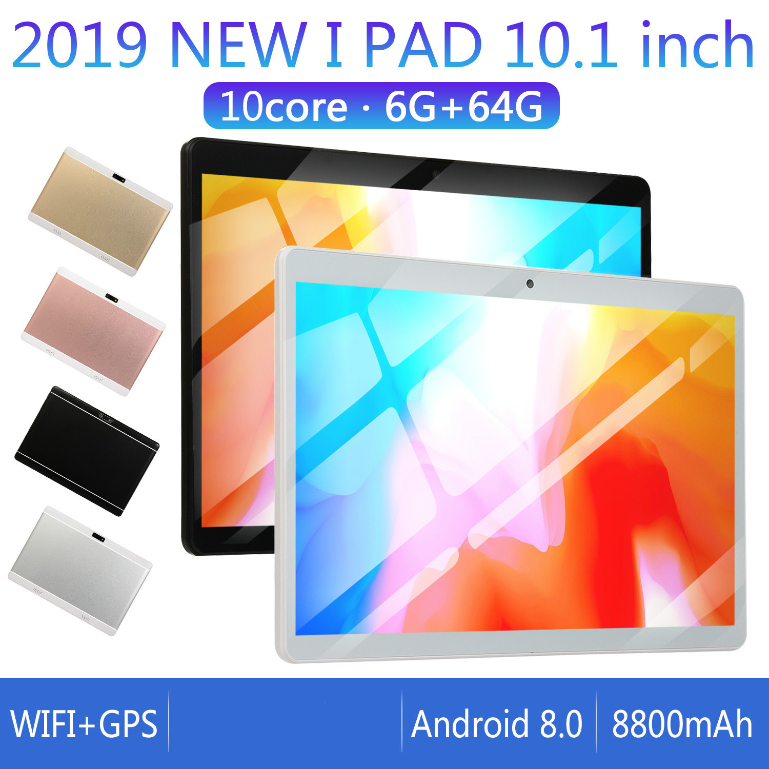2020 Best-selling 10 Inch 4G LTE Phone Call Tablet Pc Android 8.0 10 Core 6GB+128GB CE Brand Dual SIM Card 10.1 WiFi Tablet