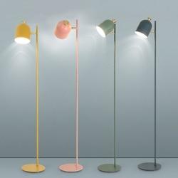 Lâmpada de assoalho moderna colorido minimalista ferro lâmpadas assoalho para sala estar quarto nordic decoração casa luz e27 cabeceira lâmpada pé