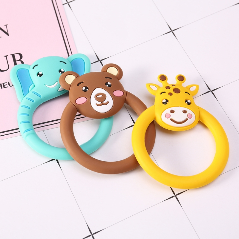 High Quality Baby Pacifier Cartoon Nursing Silicone BPA Free Necklace Toys