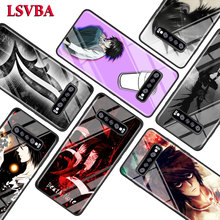 Anime Death Note for Samsung Galaxy Note 10 9 8 Pro S10e S10 5G S9 S8 S7 Plus Super Bright Glossy Phone Case Cover death note anime character figures 8 piece set