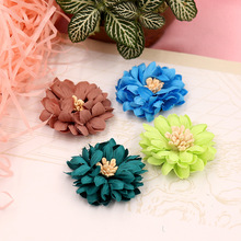10pcs4cm handmade flower DIY handmade jewelry clothing shoes accessories chrysanthemum hair accessories materials