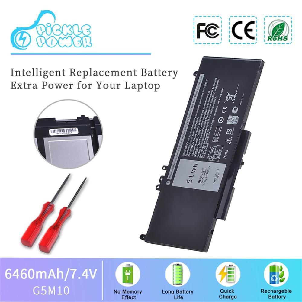 7.4V 51WH Laptop Battery G5M10 for DELL Latitude E5450 E5550 Notebook 15.6 G5M10 8V5GX R9XM9 WYJC2 1KY05-SIKER