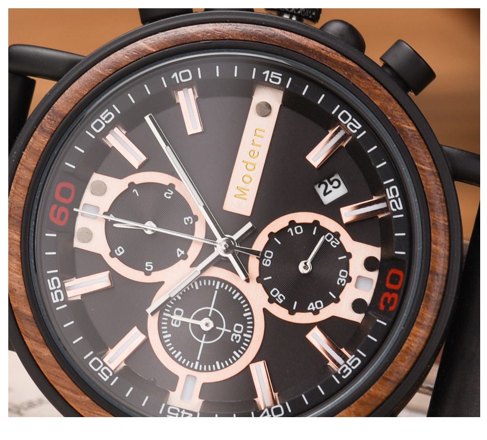 BOBO BIRD Personalized Wooden Watch Men Relogio Masculino Top Brand Luxury Chronograph Military Watches Anniversary Gift for Him H9607acc322a142d69cf8ef971519e3681