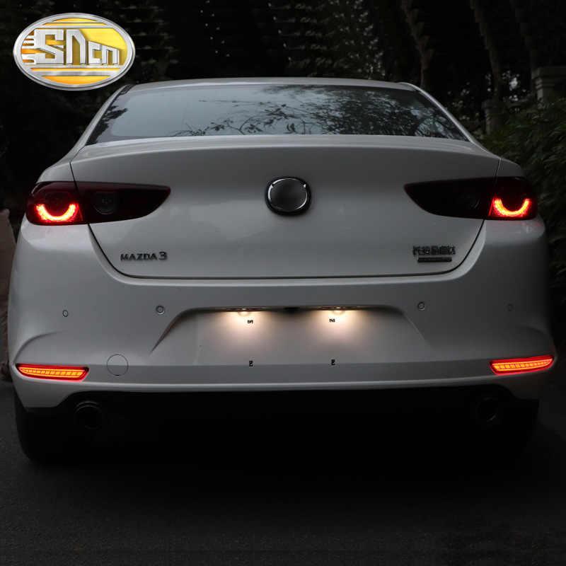 Sncn 2 Pcs Multifunctionele Led Reflector Lamp Mistachterlicht Achterbumper Remlicht Voor Mazda 3 axela Mazda3 2019 2020