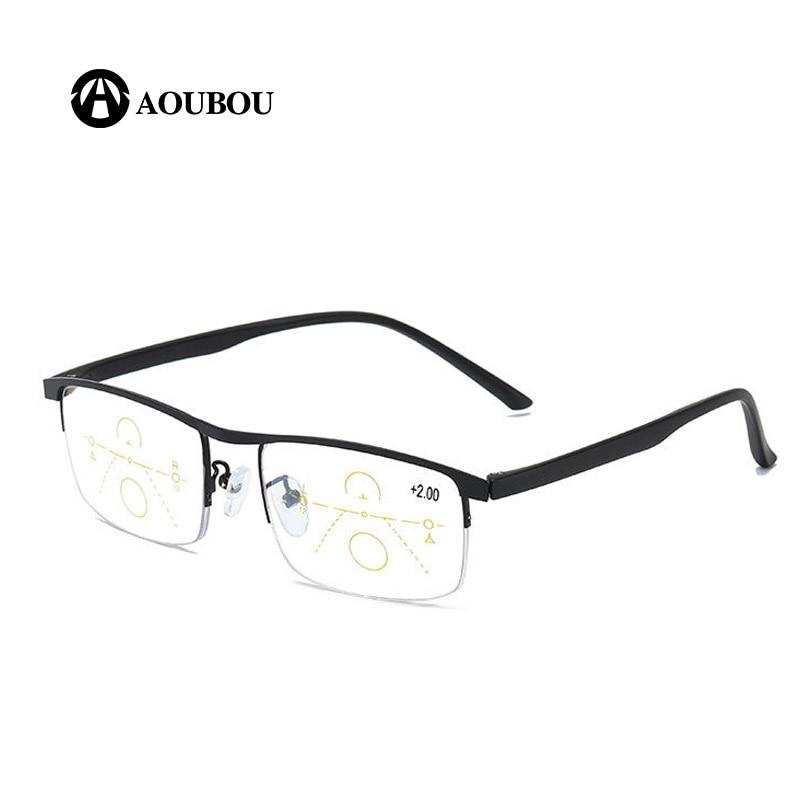 Image 3 - Progressive Multifocal Reading glasses Anti blue light Look far Look in the middle Look near Multifunction eyebrow Retro  RetroWomens Blue Light Blocking Glasses   -