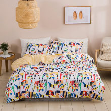 Bedding Sets Bed Linen Duvet Cover Fashion Simple Style Home Flat Sheet Bedding Set Winter Full King Single Queen,bed Set 2020 4pcs 600tc egyptian cotton soft duvet cover bed sheet set queen king size silky soft simple style embroidery hotel bedding set