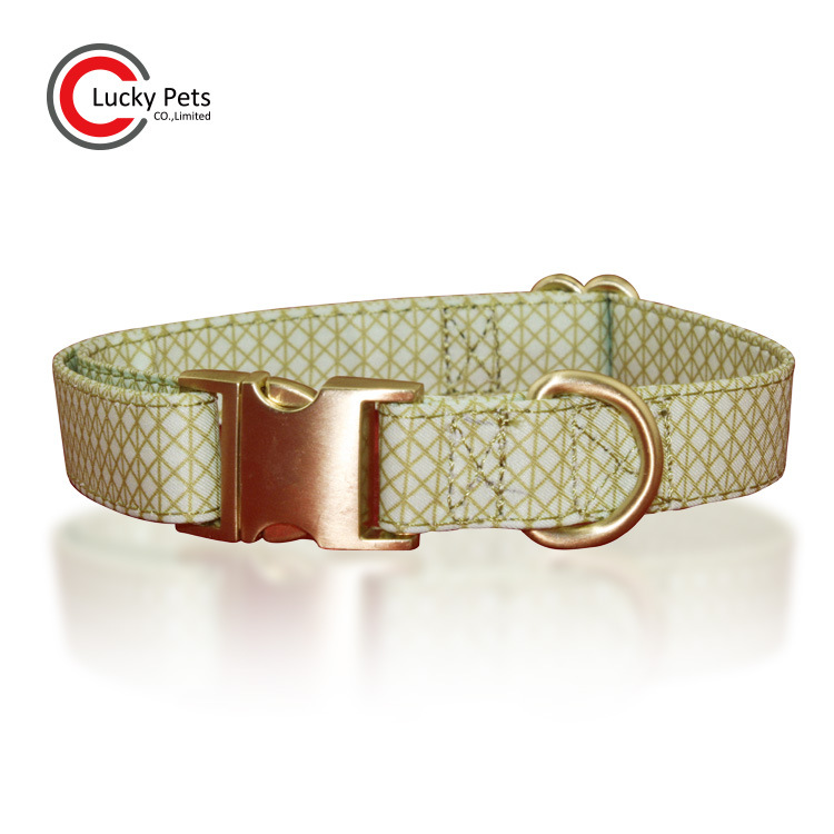 New Style Dog Neck Ring Adjustable Plaid Printed Cloth Pet Collar Natural Style