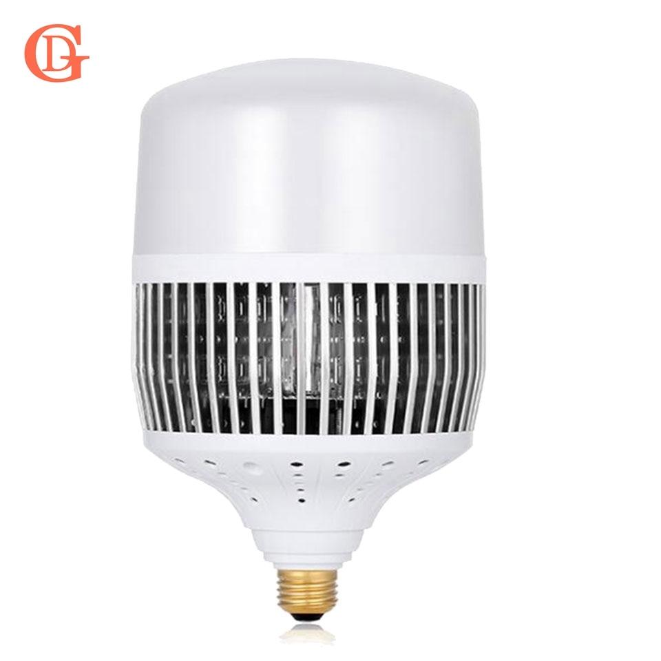GD 1pc Super Bright 30W 50W 80W 100W 150W LED Bulb Light E40 E27 AC220V LED Lamp High Power LED For Warehouse Engineering Square