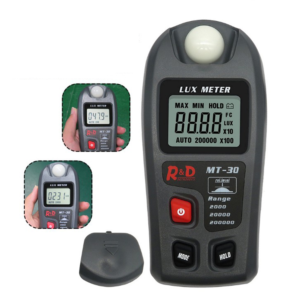 High Precision Portable Mini  LCD Digital  Luxmeter Visible Light Tester Luminometer  Illuminance  Instrument  0.1 ~ 200,000 Lux