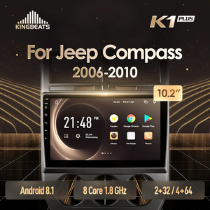 KingBeats Android 8.1 head unit 4G in Dash Car Radio Multimedia Video Player Navigation GPS For Jeep Compass MK 2006 2010(China)