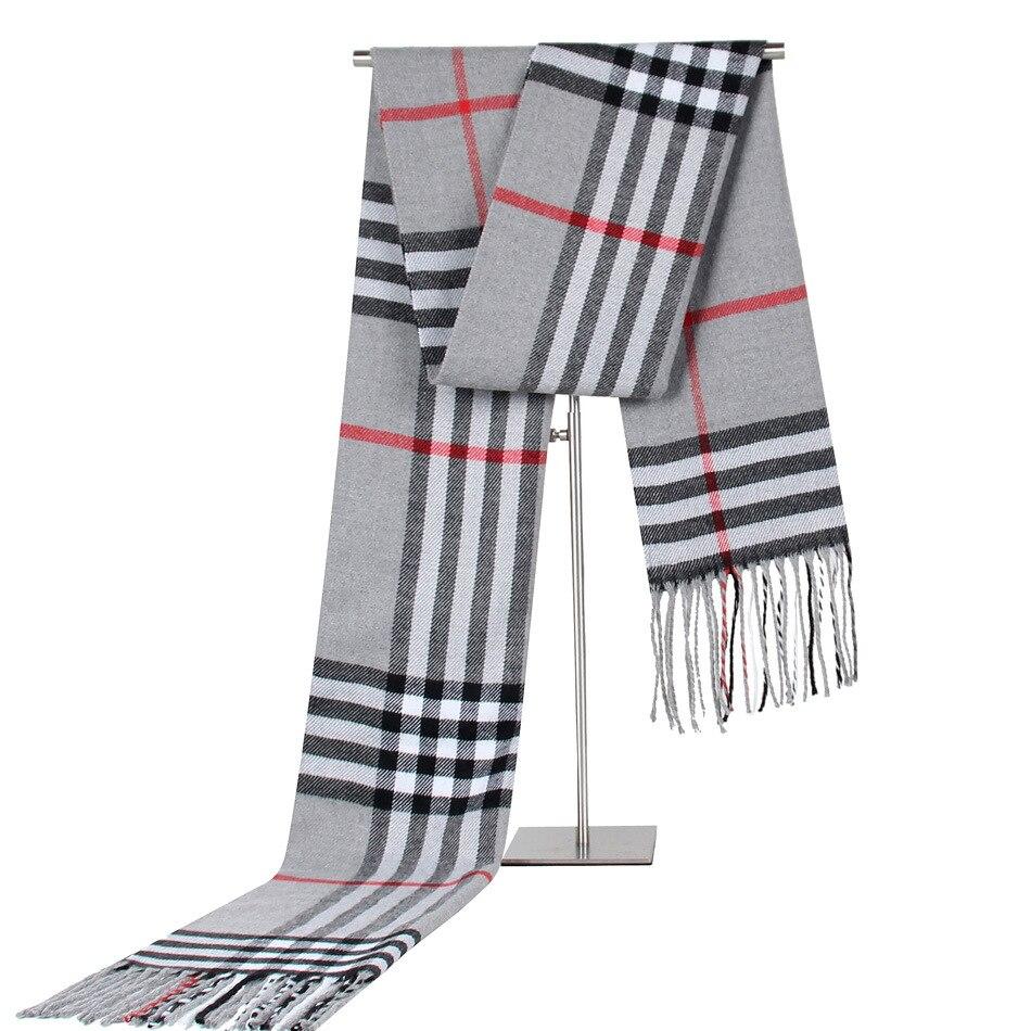 秋と冬の新ビジネスカジュアルなチェック柄のスカーフカシミヤスカーフ愛好家スカーフ