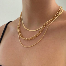 AWH Fashion Multi-layered Snake Chain Necklace For Women Vintage Gold Coin Pearl Choker Sweater Necklace Party Jewelry Gift