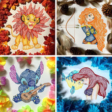 Full Square Diamond 5D DIY Diamond Paintings Cartoon Animals and Beauties Cross Stitch Rhinestone Mosaic Home Decor child Gift(China)