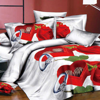 4pcs 3D Printed Bedding Set Bedclothes Oath of Love Queen Size Duvet Cover+Bed Sheet+2 Pillowcases Home Textiles