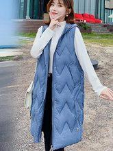 Autumn Winter Spring Vest Women Waistcoat 2019 Female Sleeveless Jacket Hooded Warm Long Colete Feminino