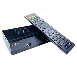 Image 3 - V20 עם UC28D מקרן SKYSAT V20 HD דיגיטלי לווין מקלט תמיכת H.265 HEVC CS Powervu ביס WiFi 3G סט תיבה עליונה