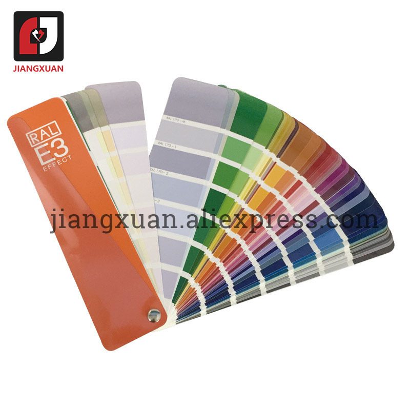 Ge RAL E3 Semi-gloss Solid Color/High Gloss Metallic Color Card 490 RAL EFFECT Color