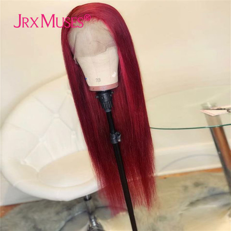 Wigs Highlight Human-Hair Lace-Front Pre-Plucked Straight Black Women Brazilian Honey Blonde