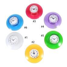 Милые мини-часы для кухни на присоске, настенные часы для душа, водонепроницаемые настенные часы с таймером, зеркальные часы для душа, украшения