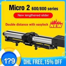 Zeapon Micro 2 E600 E800 M600 M800 Dslr Camera Rail Slider Ultra Stille Gemotoriseerde Dubbele Afstand Track Slider Voor Canon camera