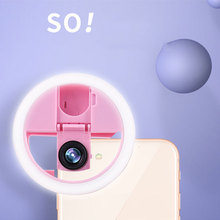 3 In 1 Universal Selfie Fill Light with Wide Angle Macro Lens 36 LEDs Selfie LED Ring Flash Lamp Beauty Lens for Mobile Phone