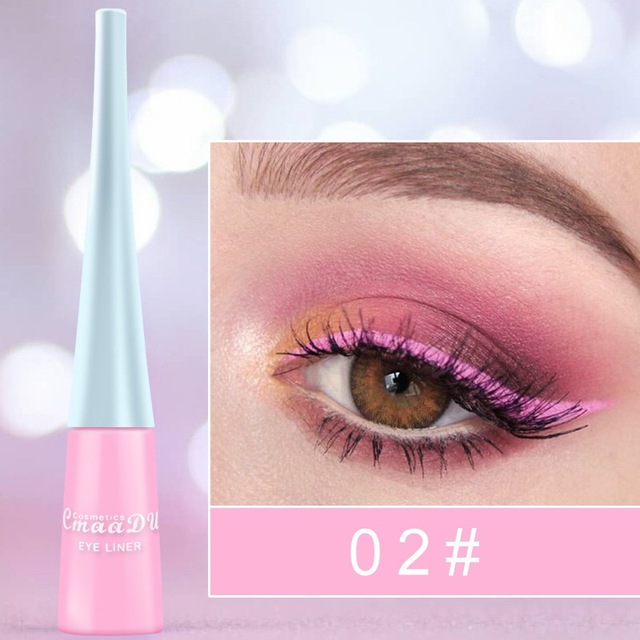 12-color matte Cat eye Makeup Waterproof Neon Colorful Liquid Eyeliner Pen Make Up Comestics Long-lasting Liner Pencil Makeup 4