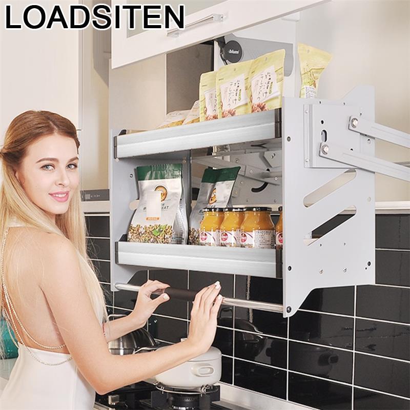 Organizar Organisadores Para Armario De Cosina Despensa Gabinete Stainless Steel Hanging Cuisine Cocina Kitchen Cabinet Basket