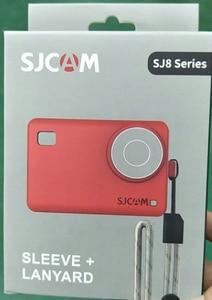 Image 4 - Originele Accessoires SJCAM Siliconen/Mouw + Pols Touw/Lanyard Beschermhoes/Frame/Cover/Grens voor SJ8 Pro Plus Actie Camera