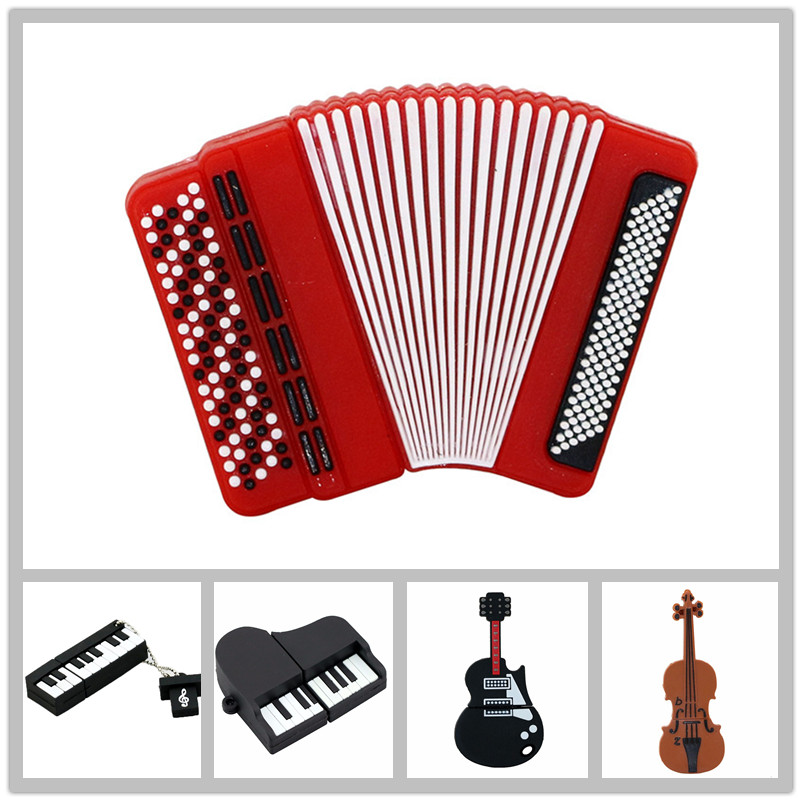 Accordion Model USB Flash Drives Piano Memory Stick PenDrives 8GB 16GB 32GB Musical Instrument Gift USB Drive Thumb Stick