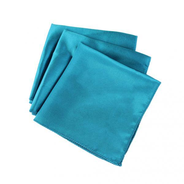 2x Polyester Napkin Pocket Handkerchief Square Wedding Party Tableware Blue  Polyester Man Handkerchief
