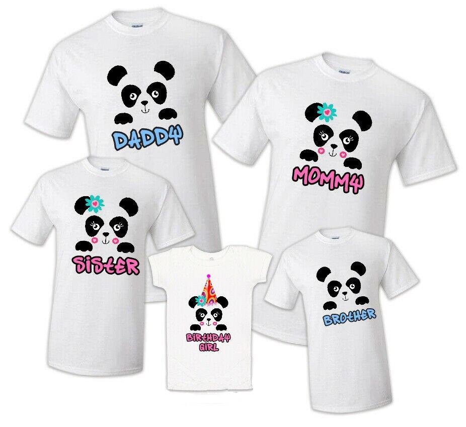 familia combinando panda festa de aniversario camiseta familia combinando celebracao reuniao t todos os membros da